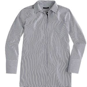 Blue and white stripped JCrew dress shirt